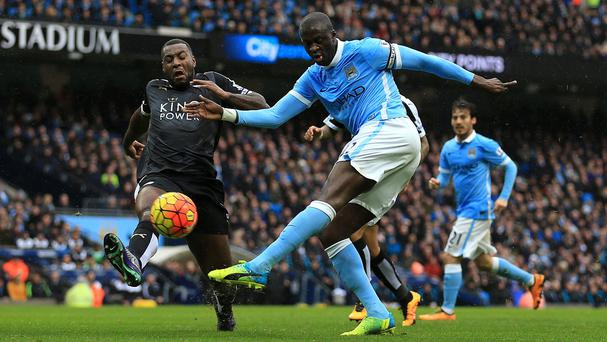 Yaya Toure struggled to have an impact for Manchester City