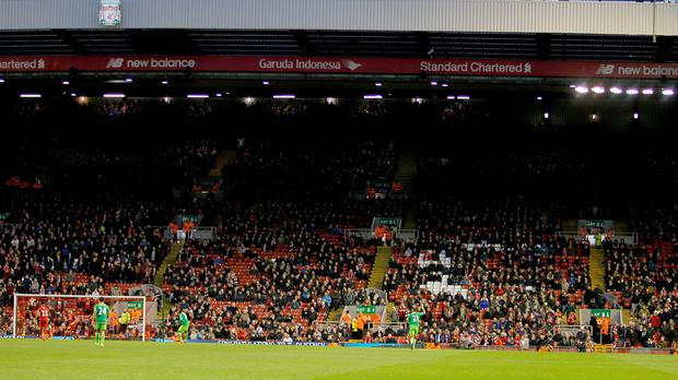 Liverpool fans walked out after 77 minutes of their match with Sunderland at Anfield in protest over ticket prices