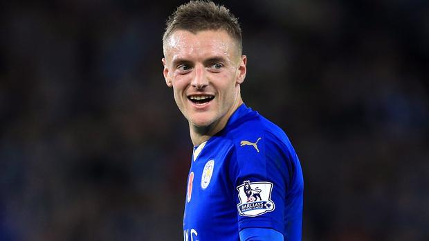 Jamie Vardy has scored 18 goals for Barclays Premier League leaders Leicester this season