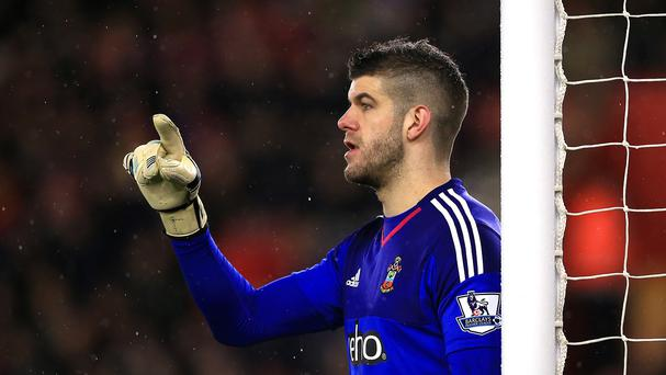 Fraser Forster has not conceded a goal in seven and a half hours