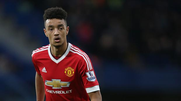 Left-back Cameron Borthwick-Jackson (pictured) was praised by Manchester United boss Louis van Gaal after the draw at Chelsea