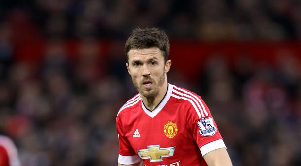 Michael Carrick (pictured) and his Manchester United team-mates were denied victory at Chelsea by Diego Costa's stoppage-time goal.
