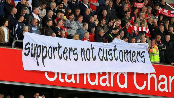 Liverpool fans protested over ticket prices during their clash with Sunderland