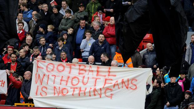Liverpool fans' walkout protest is being hailed as a