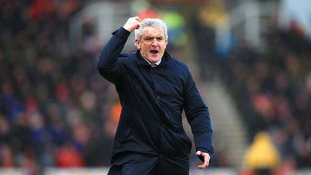Mark Hughes' Stoke have lost each of their last three Premier League games, all 3-0