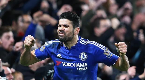 Diego Costa broke his nose during training on Thursday
