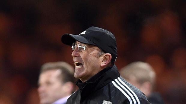 West Brom head Tony Pulis moved closer to keeping his team in the Premier League