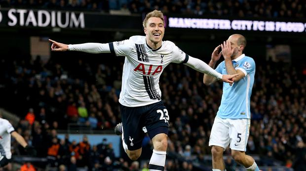 Christian Eriksen scored Tottenham's winning goal on his 24th birthday