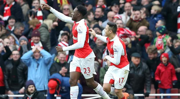 Danny Welbeck, left, scored the winner for Arsenal on his first appearance in 10 months