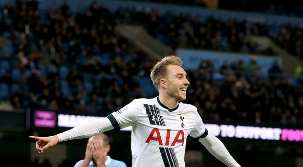 Tottenham claimed a controversial victory at Manchester City