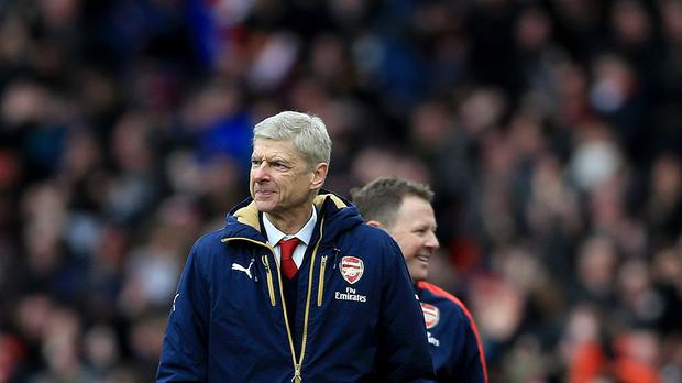 Arsenal manager Arsene Wenger saw Danny Welbeck score a last-gasp winner against Leicester on Sunday