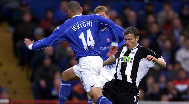Rob Lee, right, played in Newcastle's midfield for 10 years between 1992 and 2002