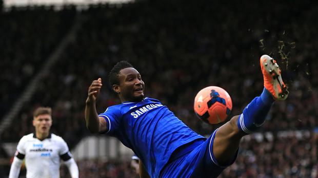 John Obi Mikel scored only his sixth Chelsea goal against Paris St Germain in the Champions League