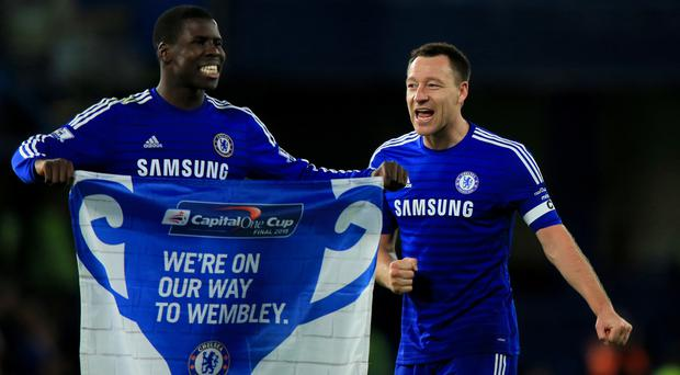 Injured pair John Terry (right) and Kurt Zouma have formed Chelsea's best central defensive partnership this season, according to the statistics.
