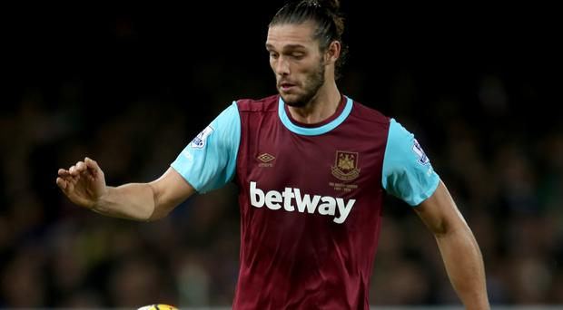 West Ham striker Andy Carroll is injured again