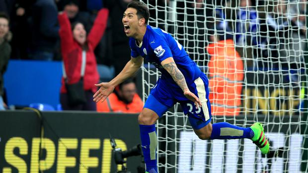 Leonardo Ulloa won it at the death for Leicester