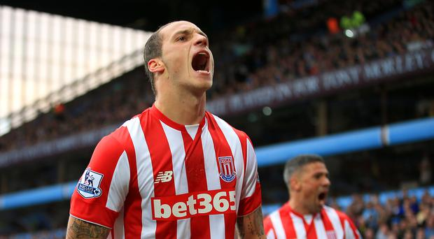 Marko Arnautovic's two goals against Aston Villa took him into double figures for the season
