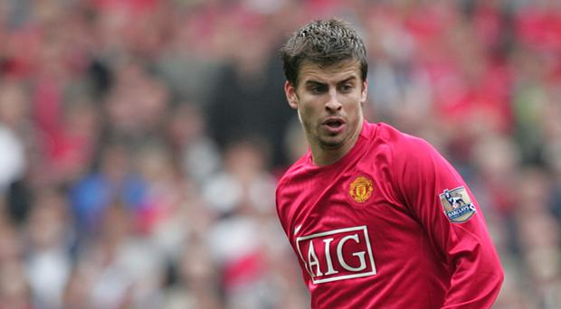 Gerard Pique started his career at Manchester United