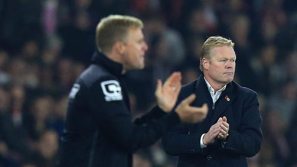 Ronald Koeman, pictured right, thinks Eddie Howe is a fine manager