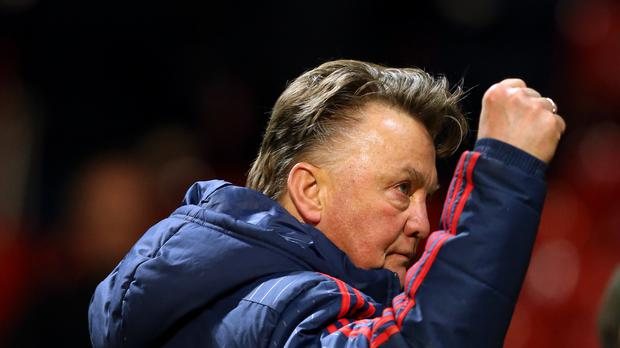Louis van Gaal is trying to remain grounded as Manchester United target the top four