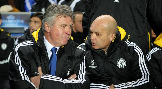 Ray Wilkins, right, worked with Guus Hiddink, left, back in 2009