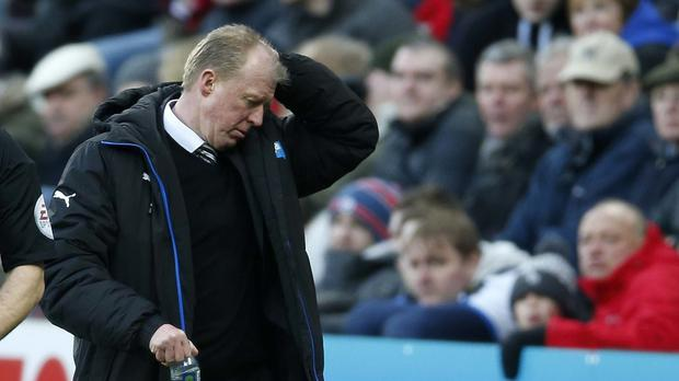 Newcastle head coach Steve McClaren is clinging to his job