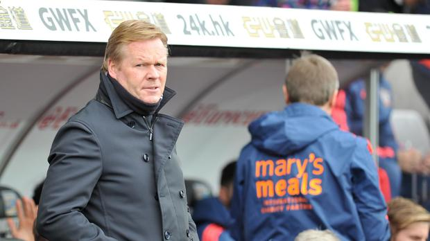 Ronald Koeman takes Southampton to Stoke on Saturday