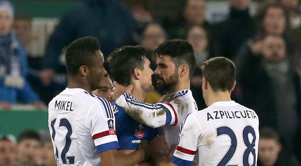 Questions are being asked as to whether Diego Costa bit Gareth Barry