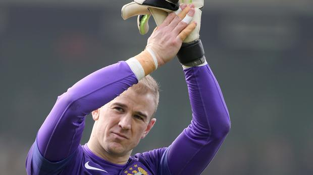 Manchester City goalkeeper Joe Hart is targeting Champions League glory