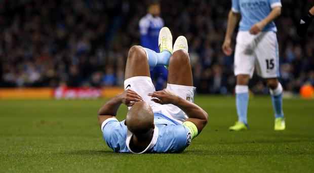 Injury to Vincent Kompany overshadowed Manchester City's Champions League win