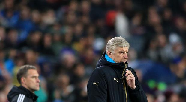 Arsenal manager Arsene Wenger saw his side lose 3-1 at Barcelona on Wednesday night.