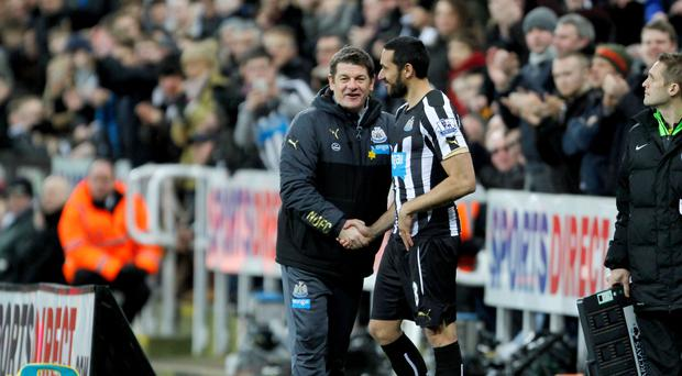 John Carver, pictured left, said the decision not to offer a new contract to Jonas Gutierrez, pictured right, was made for footballing reasons