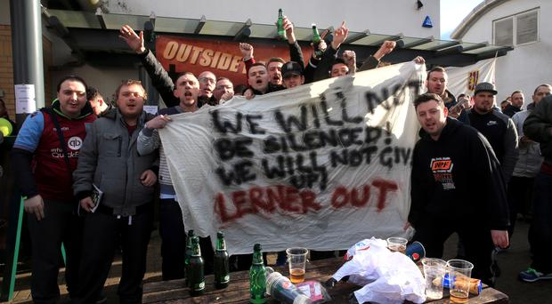 Aston Villa fans have called for Randy Lerner to move on