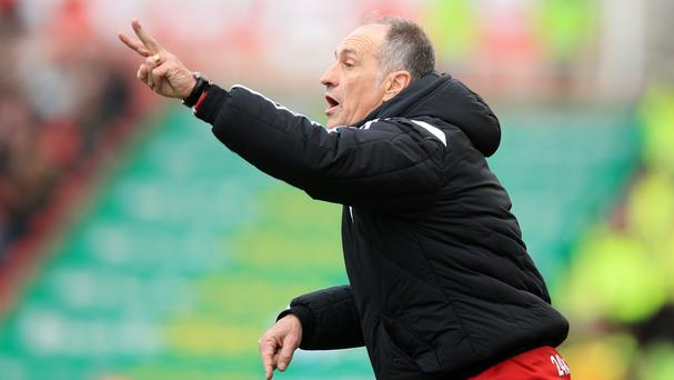 Swansea manager Francesco Guidolin saw his side come from 2-0 down at Stoke