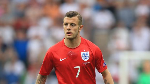 Arsenal midfielder Jack Wilshere was pictured in London's West End after an altercation between two groups of men.