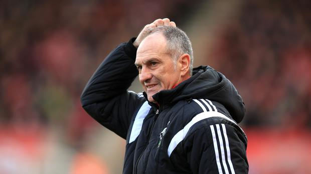 Swansea's Francesco Guidolin says discussions over his future will be held as soon as the club are safe from relegation danger.