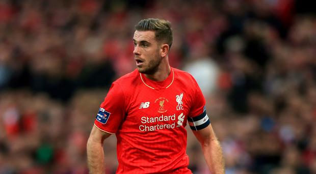 A knee injury will sideline England international Jordan Henderson for up to eight weeks