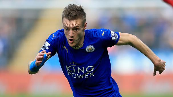 Jamie Vardy has scored just four times for Leicester since December.