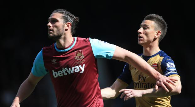 Andy Carroll proved too hot for Arsenal too handle