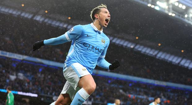 Samir Nasri scored Manchester City's winner against West Brom