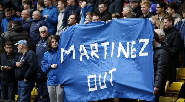 Roberto Martinez insists Everton's frustrated supporters are not having a detrimental effect on his team