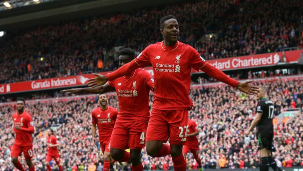 Divock Origi, pictured, surprised manager Jurgen Klopp with his second goal in Liverpool's 4-1 win over Stoke