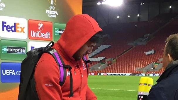 Emre Can was on crutches after Liverpool's epic victory