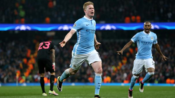 A goal from Belgian midfielder Kevin De Bruyne helped Manchester City reach the semi-finals of the Champions League for the first time