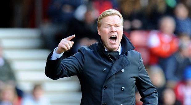 Ronald Koeman's Southampton take on Everton in the Barclays Premier League on Saturday