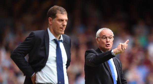 Slaven Bilic, left, comes up against Claudio Ranieri, right, again on Sunday