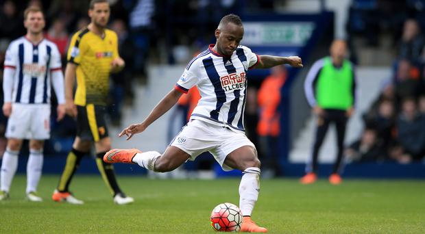 Saido Berahino had two penalties saved by Watford goalkeeper Heurelho Gomes