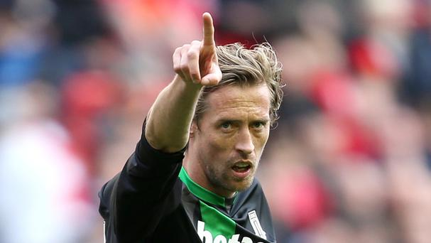 Peter Crouch faces old club Tottenham on Monday
