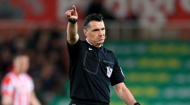 Neil Swarbrick was not the centre of attention at Stoke, after a challenging weekend for referees in the Barclays Premier League