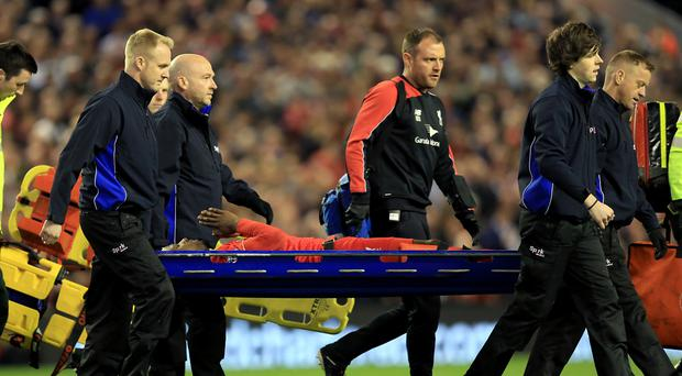 Injury to Liverpool striker Divock Origi cast a shadow over their 4-0 win in the Merseyside derby.